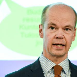 Statssekreterare Olli-Pekka Heinonen i januari 2015.