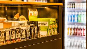 Kosttillskott till försäljning i motionssal