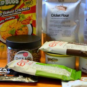Livsmedelsprodekter gjorda på insekter.