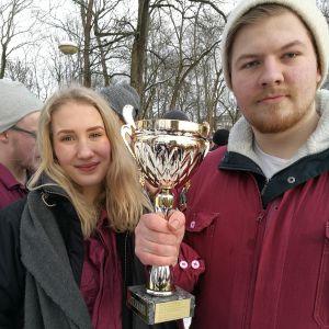 Quantums Lina Åberg och Oliver Mangs.