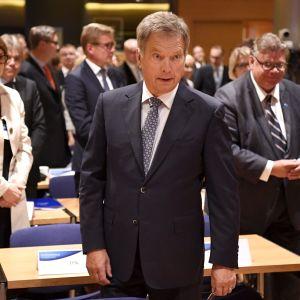 Sauli Niinistö vid ambassadörsdagarna i Helsingfors.