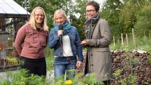 Elin Skagersten-Ström, Alexandra De Paoli och Christina Staffans