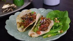 Portion med tacos.