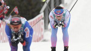 Aino-Kaisa Saarinen i VM-stafetten i Lahtis.