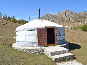 En jurta i Mongoliet.
