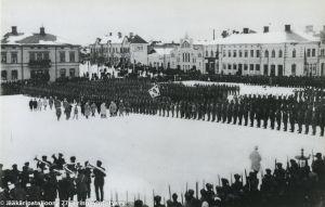 Jääkärien vastaanotto Vaasassa 26.2.1918