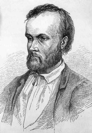 Porträtt av Aleksis Kivi (Albert Edelfelt, 1873)
