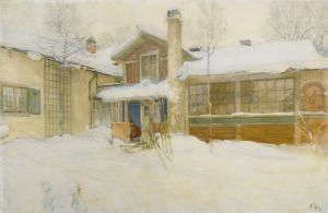 Carl Larssonin maalaus kotitalostaan