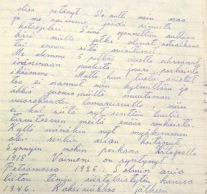 Sotaveteraanin kirje Kekkoselle 1956