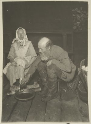 Pekka Rissanen parantaa saunassaan (1927)