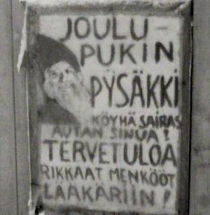 Parantaja Niilo Ollilaisen ovessa oleva kyltti (1967)