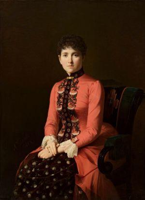 Leo Tolstoin Anna Karenina -romaanin nimihenkilö Aleksei Mikhailovich Kolesovin maalauksessa.