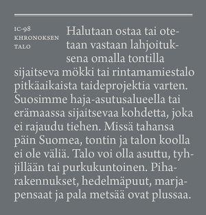 IC-98, Patrik Söderlund, Visa Suonpää, Lönnströmin taidemuseo, Khronoksen talo