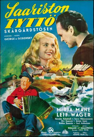 Saariston tyttö -elokuvan juliste (1953).