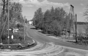Korsningen stamväg 51 och vägen till Pojo i Österby. OBS! Får användas endast i artiklar som berör fotograf Vidar Lindqvist.