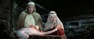 Andris Ošin on Lemminkäinen ja Eve Kivi Annikki elokuvassa Sampo (1959)