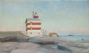 Victor Westerholmin maalaus Märketin majakasta