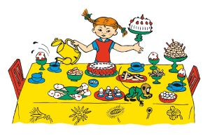 Illustration av Pippi Långstrump gjord av Ingrid Vang Nyman.