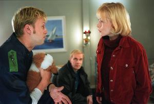 Kimmo (Jarkko Sarjanen), Pertti (Jukka Puotila) ja Laura (Pirjo Moilanen) vuonna 1999.