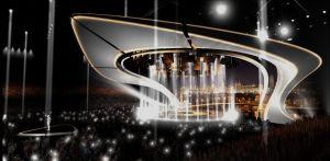 Eurovision laulukilpailun 2017 lavana havainnekuva
