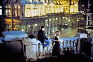 Ethan Hawke ja Julie Delpy elokuvassa Rakkautta ennen aamua