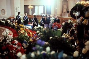 Urho Kekkosen hautajaiset. Sisäkuva kirkosta.