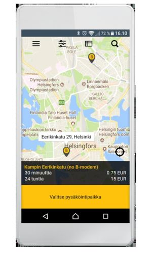 Skärmdump av Barking-applikationen.