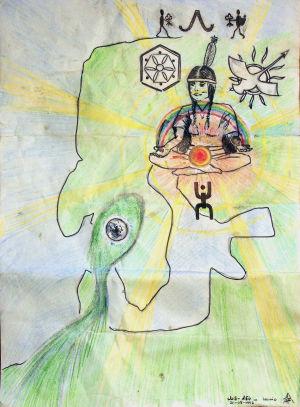 Iriadamantien Lainion leirillä tehty piirros