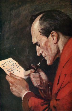 Porträtt av Sherlock Holmes