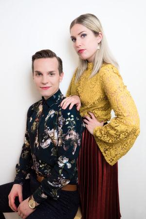 Kuvassa Valtteri Lehtinen ja Thelma Siberg