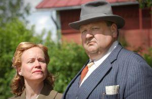 Kaija Pakarinen ja Mikko Kivinen tv-draamasta Kirje isältä (2003).