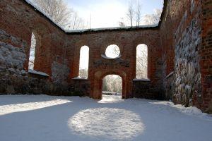 Ruinerna av S:ta Maria kyrka i Gamla Vasa.