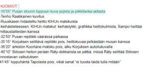 Ote Urheilu-suomen käsikirjoituksesta