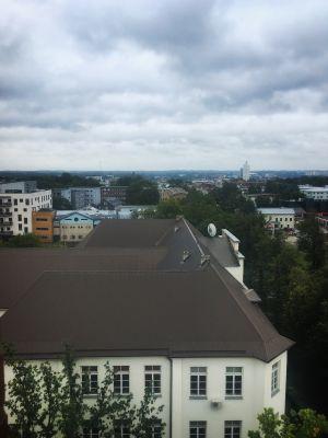 Näkymä Tarton yli Paavalinkirkon tornista.
