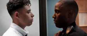 Anthony Ramos ja John David Washington esiintyvät elokuvassa Monsters and Men.