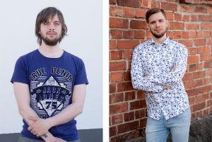 Två olika bilder på samma man. Till vänster har han långt hår och vildvuxet skägg. Till höger har han kort hår och välansat skägg.