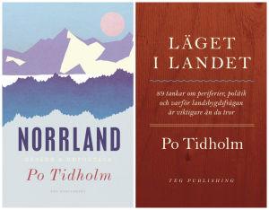 Två böcker av författaren och journalisten Po Tidholm.