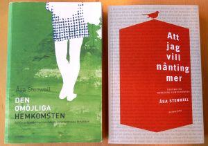 Två av Åsa Stenvall-Albjergs essäsamlingar.