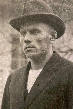 Porträtt på Vilho Lylykorpi som äldre efter att han släppts fri från fångenskap