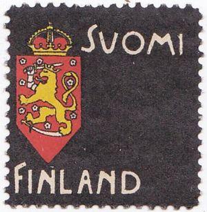 Akseli Gallen-Kallelas sorgemärke publicerat år 1900.