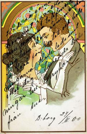 Postkort från år 1900.