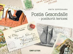 Pärmen till Anita Seppovaaras bok om postkort sända till Gesonda Söderberg.