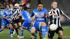 Tuija Hyyrynen och Sanni Franssi mot Brescia.