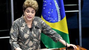 Dilma Rousseff presenterar sina argument 29.8.2016.