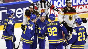 Sverige krossade Tyskland i ishockey-VM.