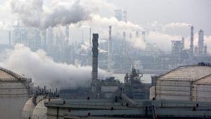 Oljeraffinaderi i provinsen Shandong
