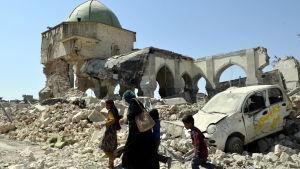 Irakiska Mosul några dagar innan terrorgruppen IS drevs ut ur staden.