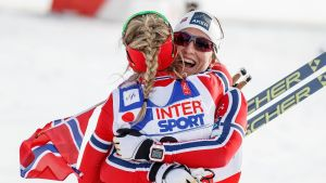 Therese Johaug och Marit Björgen, VM 2015.