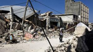 Port au Prince, Haiti, efter jordbävningen 2010.