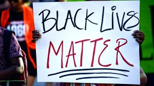 Kampanjen Black lives matter i USA.